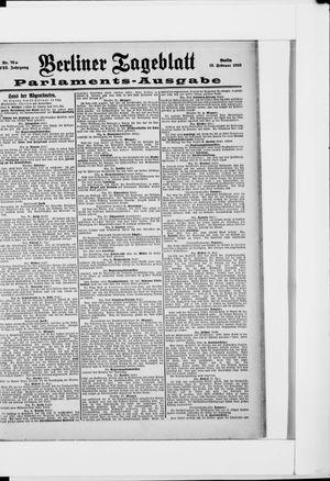 Berliner Tageblatt und Handels-Zeitung vom 13.02.1898