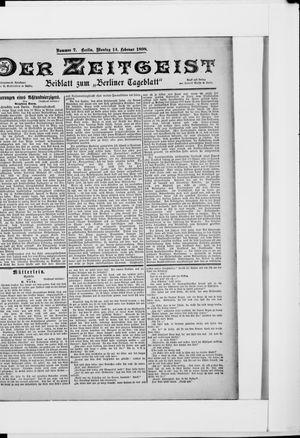 Berliner Tageblatt und Handels-Zeitung vom 14.02.1898