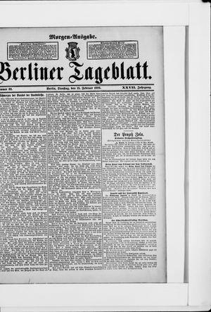 Berliner Tageblatt und Handels-Zeitung vom 15.02.1898