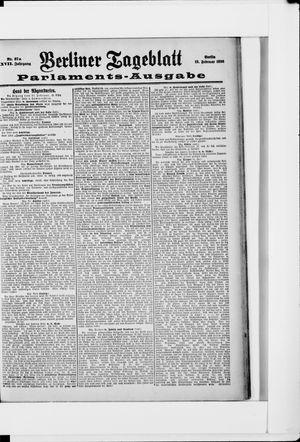 Berliner Tageblatt und Handels-Zeitung vom 18.02.1898