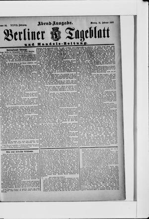 Berliner Tageblatt und Handels-Zeitung vom 21.02.1898