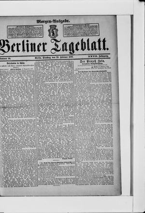 Berliner Tageblatt und Handels-Zeitung vom 22.02.1898