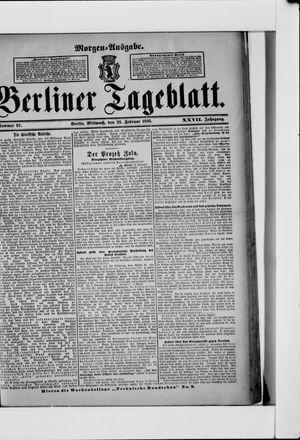 Berliner Tageblatt und Handels-Zeitung vom 23.02.1898