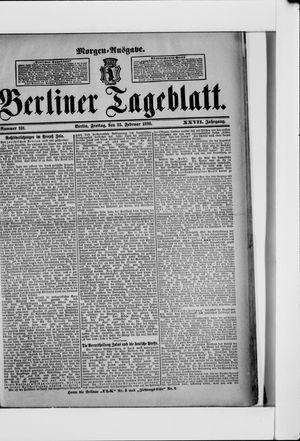 Berliner Tageblatt und Handels-Zeitung vom 25.02.1898