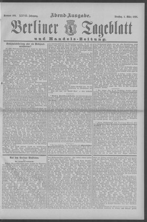 Berliner Tageblatt und Handels-Zeitung vom 01.03.1898