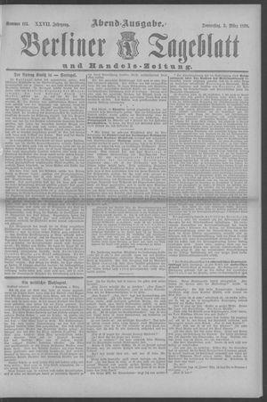 Berliner Tageblatt und Handels-Zeitung vom 03.03.1898