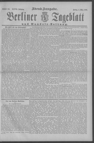 Berliner Tageblatt und Handels-Zeitung vom 04.03.1898