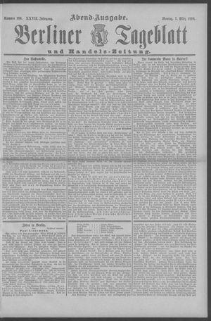 Berliner Tageblatt und Handels-Zeitung vom 07.03.1898