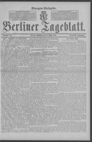 Berliner Tageblatt und Handels-Zeitung vom 08.03.1898