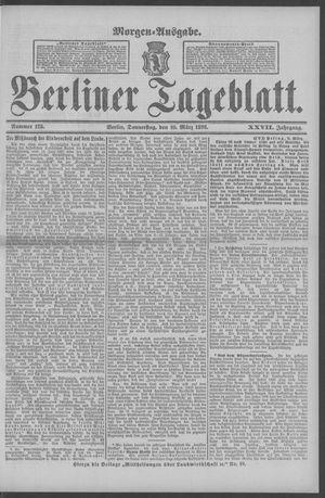 Berliner Tageblatt und Handels-Zeitung vom 10.03.1898
