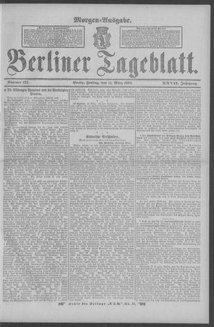 Berliner Tageblatt und Handels-Zeitung vom 11.03.1898