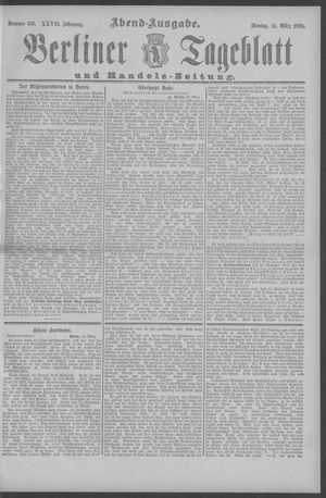 Berliner Tageblatt und Handels-Zeitung on Mar 14, 1898