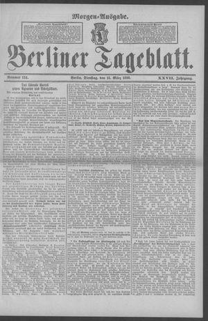 Berliner Tageblatt und Handels-Zeitung vom 15.03.1898
