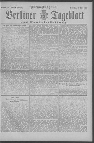 Berliner Tageblatt und Handels-Zeitung vom 17.03.1898