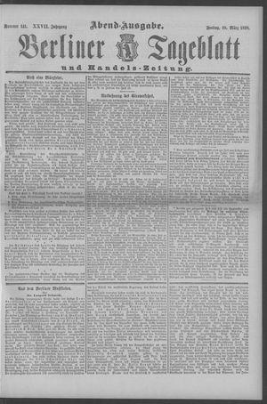 Berliner Tageblatt und Handels-Zeitung vom 18.03.1898