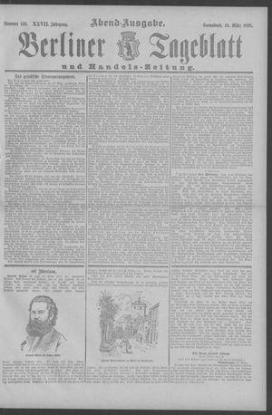 Berliner Tageblatt und Handels-Zeitung on Mar 19, 1898