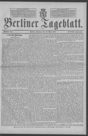 Berliner Tageblatt und Handels-Zeitung vom 20.03.1898
