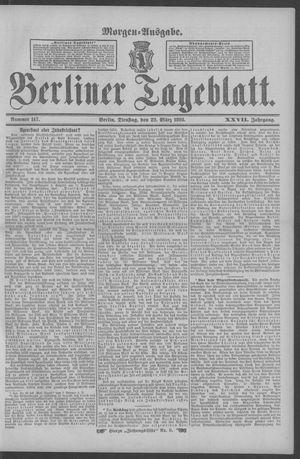 Berliner Tageblatt und Handels-Zeitung vom 22.03.1898
