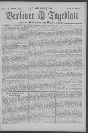 Berliner Tageblatt und Handels-Zeitung vom 25.03.1898