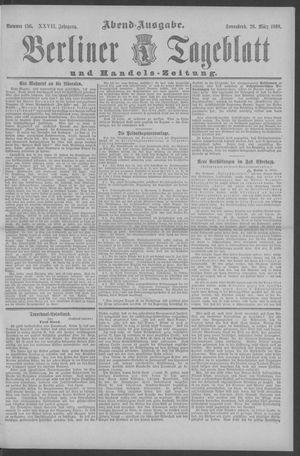 Berliner Tageblatt und Handels-Zeitung vom 26.03.1898