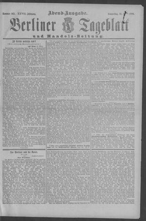Berliner Tageblatt und Handels-Zeitung vom 31.03.1898