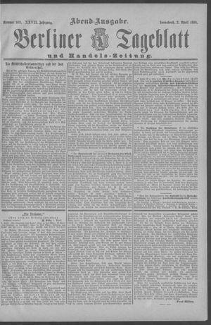 Berliner Tageblatt und Handels-Zeitung vom 02.04.1898