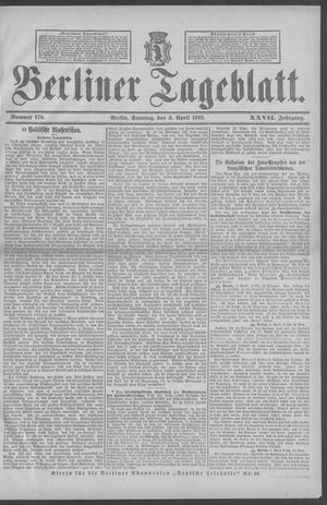 Berliner Tageblatt und Handels-Zeitung vom 03.04.1898