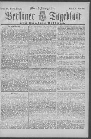 Berliner Tageblatt und Handels-Zeitung vom 06.04.1898