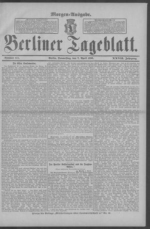 Berliner Tageblatt und Handels-Zeitung vom 07.04.1898