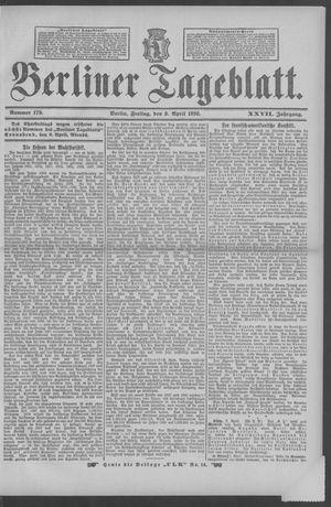 Berliner Tageblatt und Handels-Zeitung vom 08.04.1898