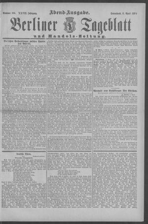 Berliner Tageblatt und Handels-Zeitung vom 09.04.1898
