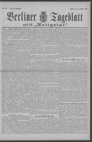 Berliner Tageblatt und Handels-Zeitung vom 12.04.1898