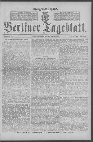 Berliner Tageblatt und Handels-Zeitung on Apr 13, 1898