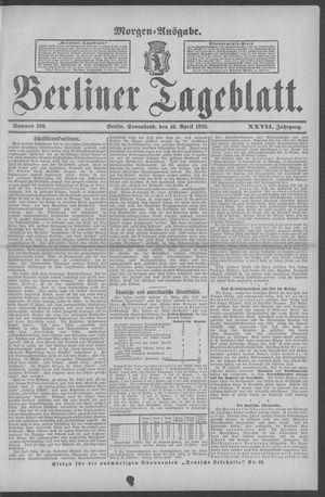 Berliner Tageblatt und Handels-Zeitung vom 16.04.1898