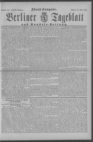 Berliner Tageblatt und Handels-Zeitung on Apr 18, 1898