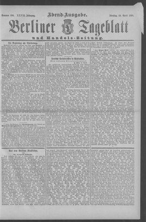 Berliner Tageblatt und Handels-Zeitung vom 19.04.1898