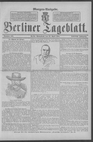 Berliner Tageblatt und Handels-Zeitung vom 23.04.1898