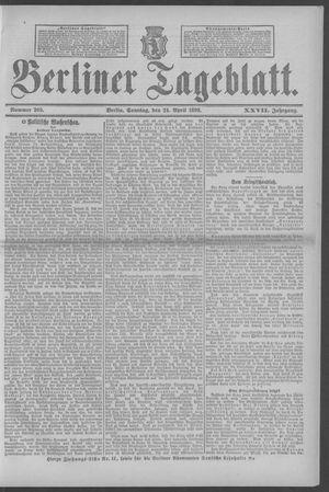 Berliner Tageblatt und Handels-Zeitung vom 24.04.1898