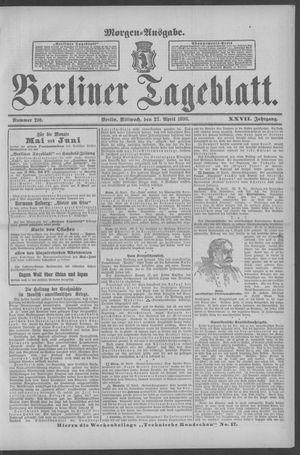 Berliner Tageblatt und Handels-Zeitung vom 27.04.1898