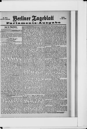 Berliner Tageblatt und Handels-Zeitung vom 03.05.1898