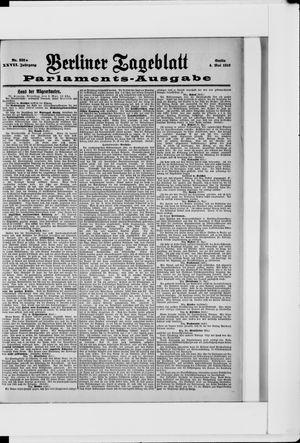 Berliner Tageblatt und Handels-Zeitung on May 4, 1898