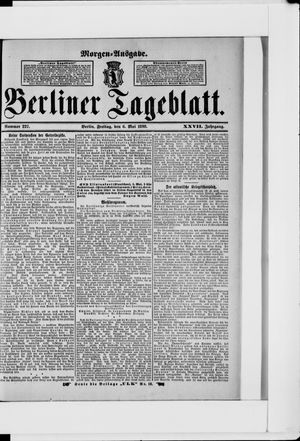 Berliner Tageblatt und Handels-Zeitung vom 06.05.1898