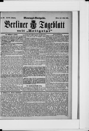 Berliner Tageblatt und Handels-Zeitung on May 9, 1898