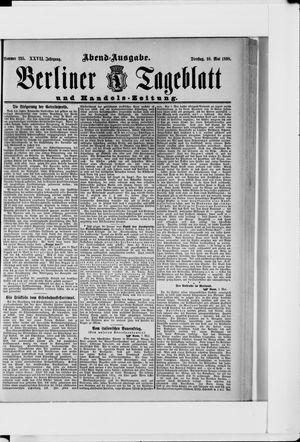 Berliner Tageblatt und Handels-Zeitung vom 10.05.1898
