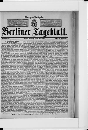 Berliner Tageblatt und Handels-Zeitung vom 11.05.1898