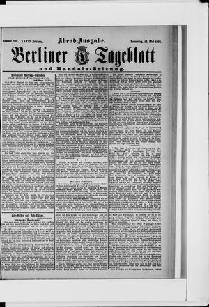 Berliner Tageblatt und Handels-Zeitung vom 12.05.1898