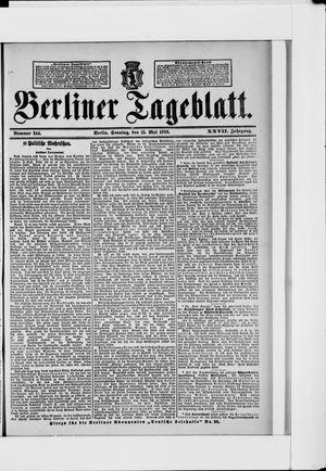 Berliner Tageblatt und Handels-Zeitung vom 15.05.1898