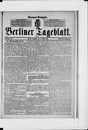 Berliner Tageblatt und Handels-Zeitung vom 17.05.1898
