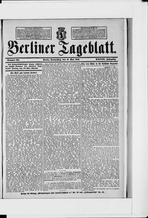 Berliner Tageblatt und Handels-Zeitung vom 19.05.1898