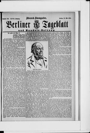 Berliner Tageblatt und Handels-Zeitung vom 20.05.1898